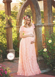 Maternity Clothes Lace Shower/Wedding Dress