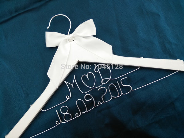 Custom Personalized Wedding Hanger Bridal Hanger Bridesmaid Hanger