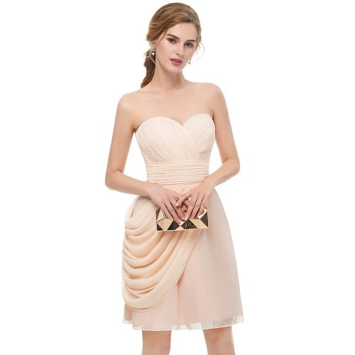 Sexy Sweetheart Sleeveless Homecoming Dresses Charming Knee Length Draped Special Occasion Dresses Vestido De Festa Curtos