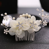 Bridal headwear, pearl hair comb Wedding bride ornament accessories Hot selling headwear in Europe and America