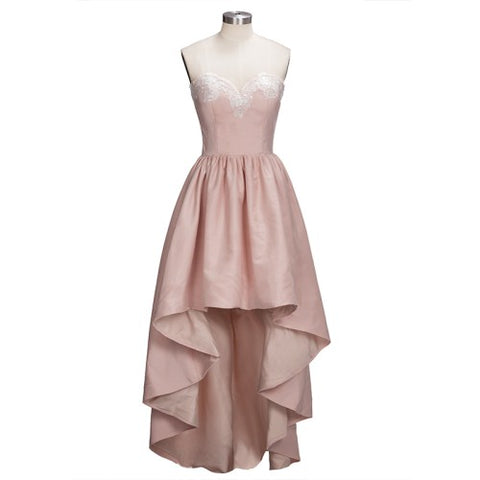 New Aeeival Sexy High Low Sleeveless Homecoming Dresses Charming Sweetheart Knee Length Appliques Dresses Vestido de Festa Curto