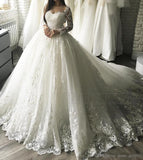 Vintage Ball Gown Embroidery Arab Wedding Dress