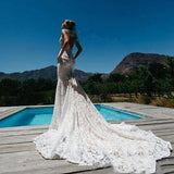 Ivory Lace Mermaid Wedding Dress