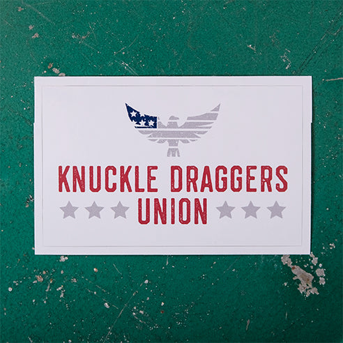 Knuckle Draggers Union Sticker