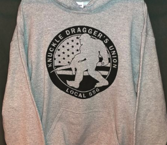 Knuckle Dragger Original Hoodie - Gray CLOSEOUT