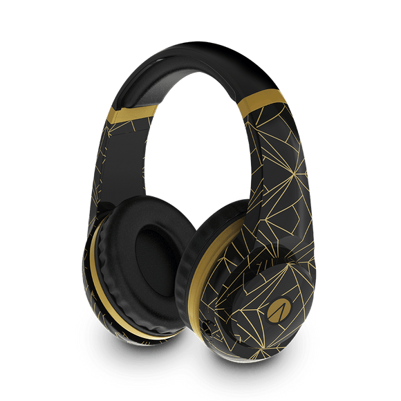 Classic Gold Abstract Edition Multiformat Gaming Headset - KOODOO