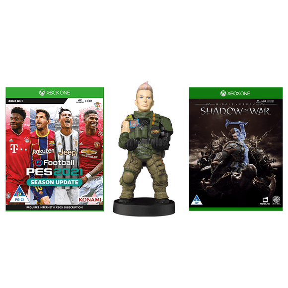 Cable Guy: Battery + eFootball PES 2021 Season Update + Middle Earth: Shadow of War (XB1) - KOODOO