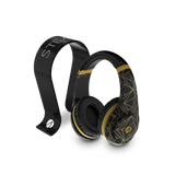 Classic Gold Abstract Edition Multiformat Gaming Headset + Multiformat Gaming Headset Stand - Black - KOODOO