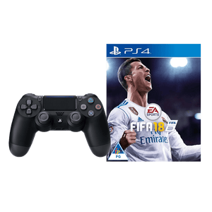 PS4 DS4 Black + FIFA 18 (PS4) - KOODOO