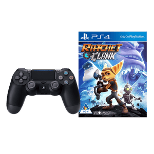 PS4 DS4 Black + Ratchet & Clank (PS4) - KOODOO