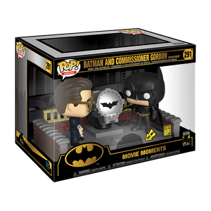 Funko Pop! Movie Moments Batman And Commissioner Gordon With Signal Light - KOODOO