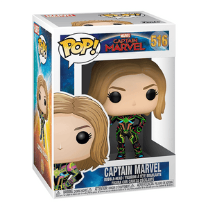 Funko Pop! Marvel: Captain Marvel - Captain Marvel In Neon Suit - KOODOO
