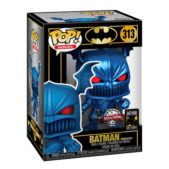 Funko Pop! Heroes:Batman 80th-Merciless (Blue, Metallic) - KOODOO