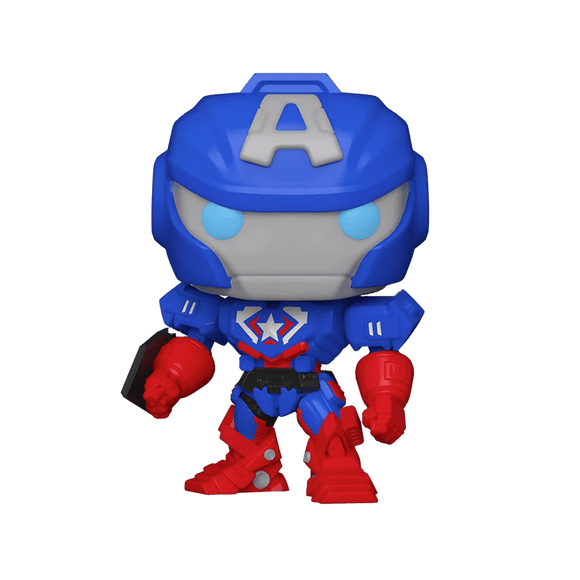 Funko Pop! Marvel -Mech - Captain America (Glow In The Dark - Special Edition) - KOODOO