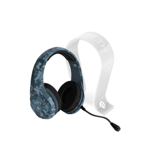 PS4 Stereo Gaming Headset - Midnight Camo Edition + Multiformat Gaming Headset Stand - Frosted - KOODOO