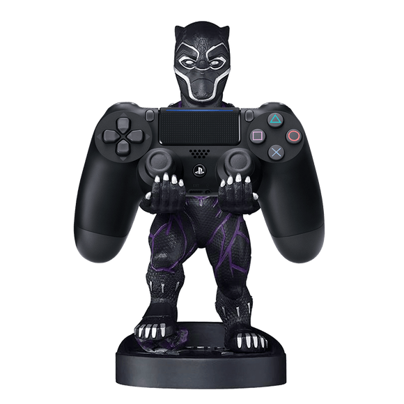 PS4 DS4 Black + Cable Guy: Black Panther - KOODOO