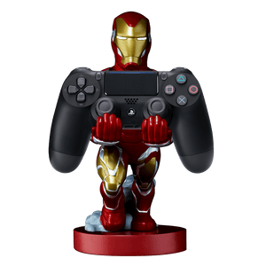 PS4 DS4 Black + Cable Guy: Iron Man Cable Guy - KOODOO