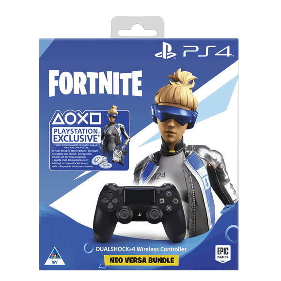 PS4 DS4 Black + Fortnite Neo Versa Bundle (500 V-BUCKS) - KOODOO
