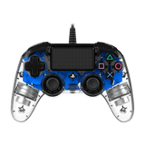 PS4 Nacon Wired Controller Clear Blue - KOODOO