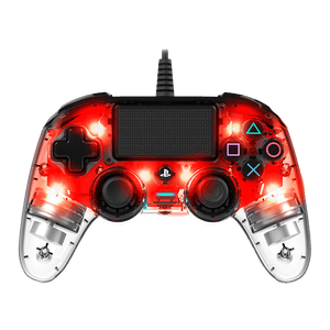 PS4 Nacon Wired Controller Clear Red - KOODOO