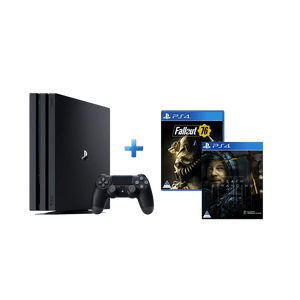 PS4 PRO 1TB + Fallout 76 + Death Stranding (PS4) - KOODOO