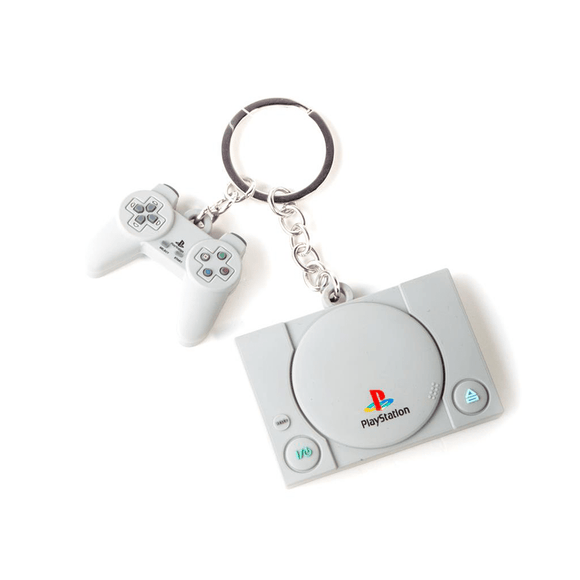 PlayStation - Console & Controller 3D Rubber Keychain - KOODOO