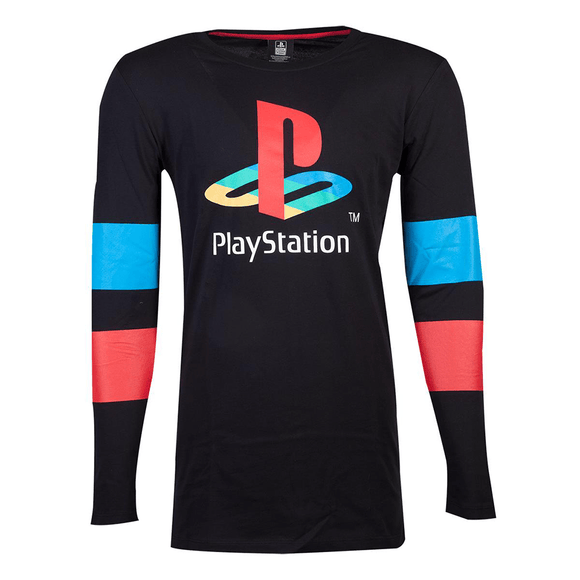 PlayStation - Logo & Arms Striped Longsleeve T-shirt - KOODOO