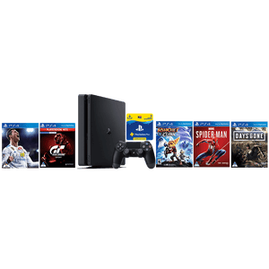 PS4 500GB + 90 Day PSN + Gran Turismo Sport Spec II + Ratchet & Clank + Spider-Man + Days Gone + FIFA 18 - KOODOO
