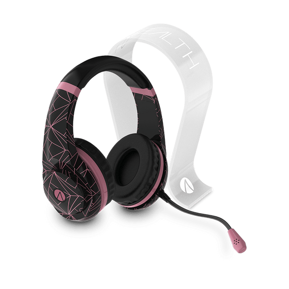 Rose Gold Abstract Edition Multiformat Gaming Headset + Multiformat Gaming Headset Stand - Frosted - KOODOO