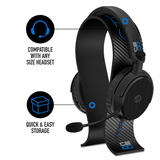 STEALTH C6-100 Headset & Stand Bundle – Carbon Edition Black/Blue - KOODOO