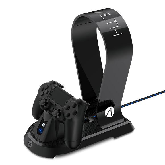 STEALTH PlayStation 4 Docking Station with Headset Stand - Black - KOODOO
