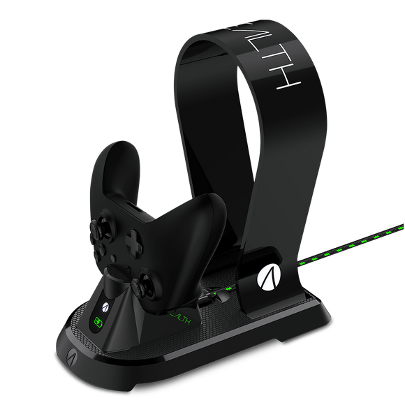 STEALTH Xbox One Docking Station with Headset Stand - Black - KOODOO