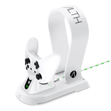 STEALTH Xbox One Docking Station with Headset Stand - White - KOODOO