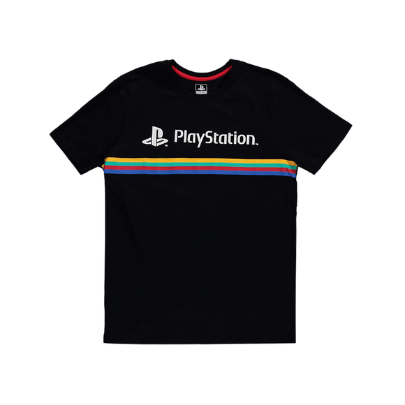 Sony - PlayStation - Color Stripe Logo - T-shirt - KOODOO