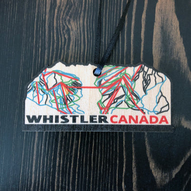 Whistler Trail Map Ornament