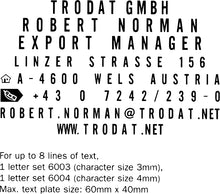 Load image into Gallery viewer, Trodat 4927 Typo DIY Kit (59mm x 38mm)