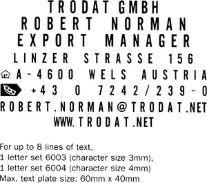 Trodat 4927 Typo DIY Kit (59mm x 38mm)