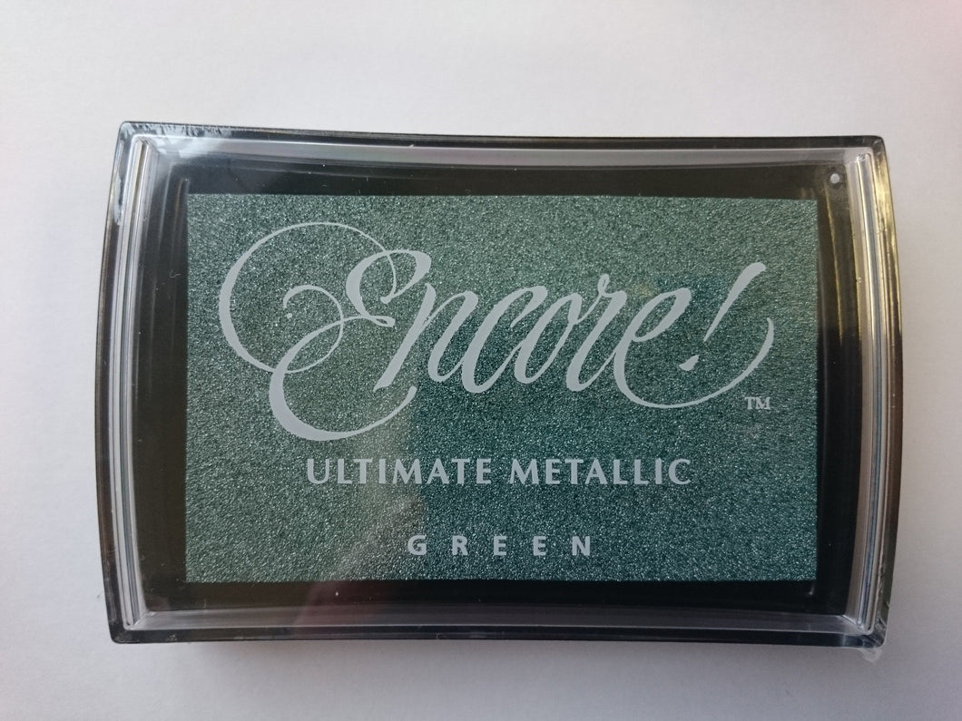 Metallic Ink Pad Green