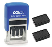 Load image into Gallery viewer, Colop Mini-Dater S120 + 2 Free Ink Pads