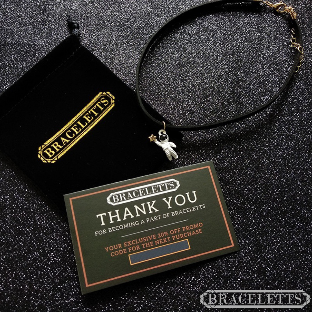 The Astronaut Necklace by Braceletts with card and bag