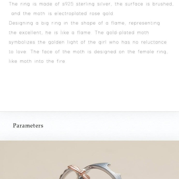 A Golden Moth: The Rings (for couples) - Braceletts.eu
