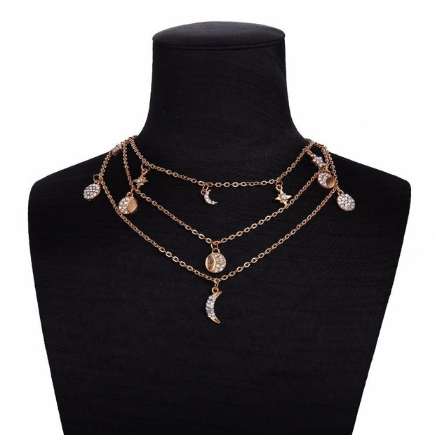 Diamond Moon Necklace set - Braceletts.eu