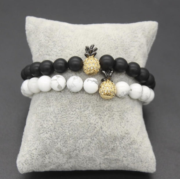 Pineapple couple bracelets (2pcs) - Braceletts.eu