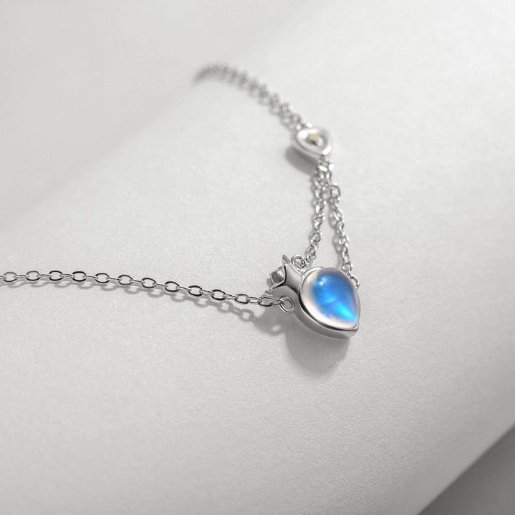Princess and King: The Necklace (natural moonstone) - Insignia Jewels