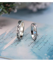 Snow Crystal: The Rings (for couples) - Braceletts.eu