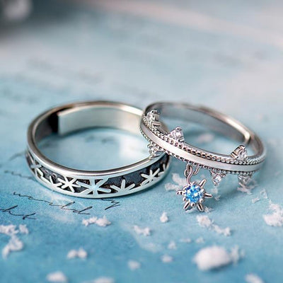 Snow Crystal: The Rings (for couples) - Insignia Jewels