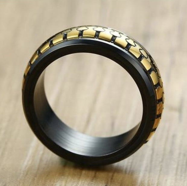 {SS} A Golden Zip Ring - Braceletts.eu