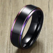 {SS} Multi Color Ring (Thin Black Edition) - Braceletts.eu