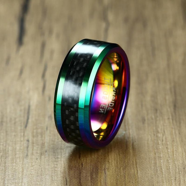 {TC} Exclusive Multi Color Carbon Fiber Ring - Braceletts.eu