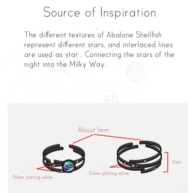 Twilight Galaxy: The Rings - Braceletts.eu